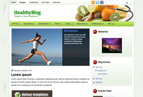 HealthyBlog Blogger Template