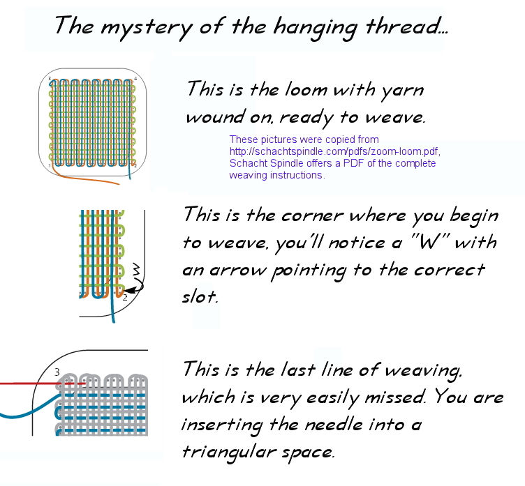 Pin Loom Weaving The Mystery Of The Hanging Thread