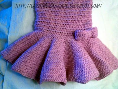 Crochet Baby Tutu Dress Pattern : Earning-My-Cape: Crochet Toddler Tutu Dress (free pattern)