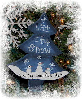 Country Lane Folk Art: Painting ornaments