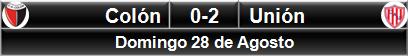 Colón 0-2 Unión
