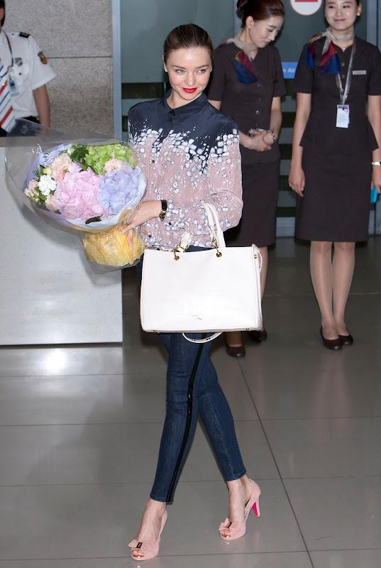 Miranda Kerr arriving at Incheon International Airport