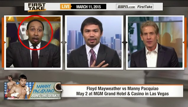 Stephen A. Smith got surprised of Manny Pacquiao's answer.