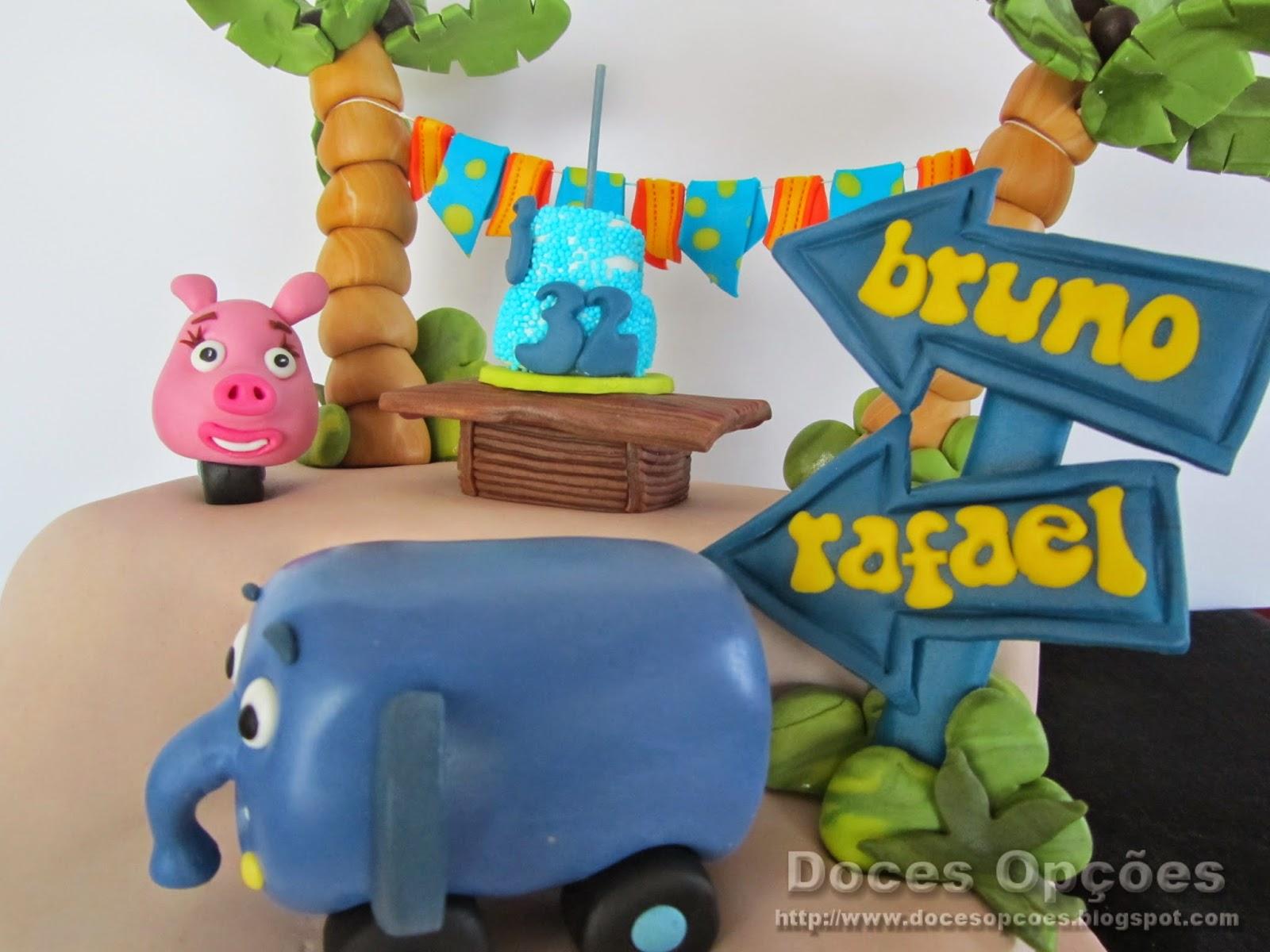 bolos decorados selva sobre rodas