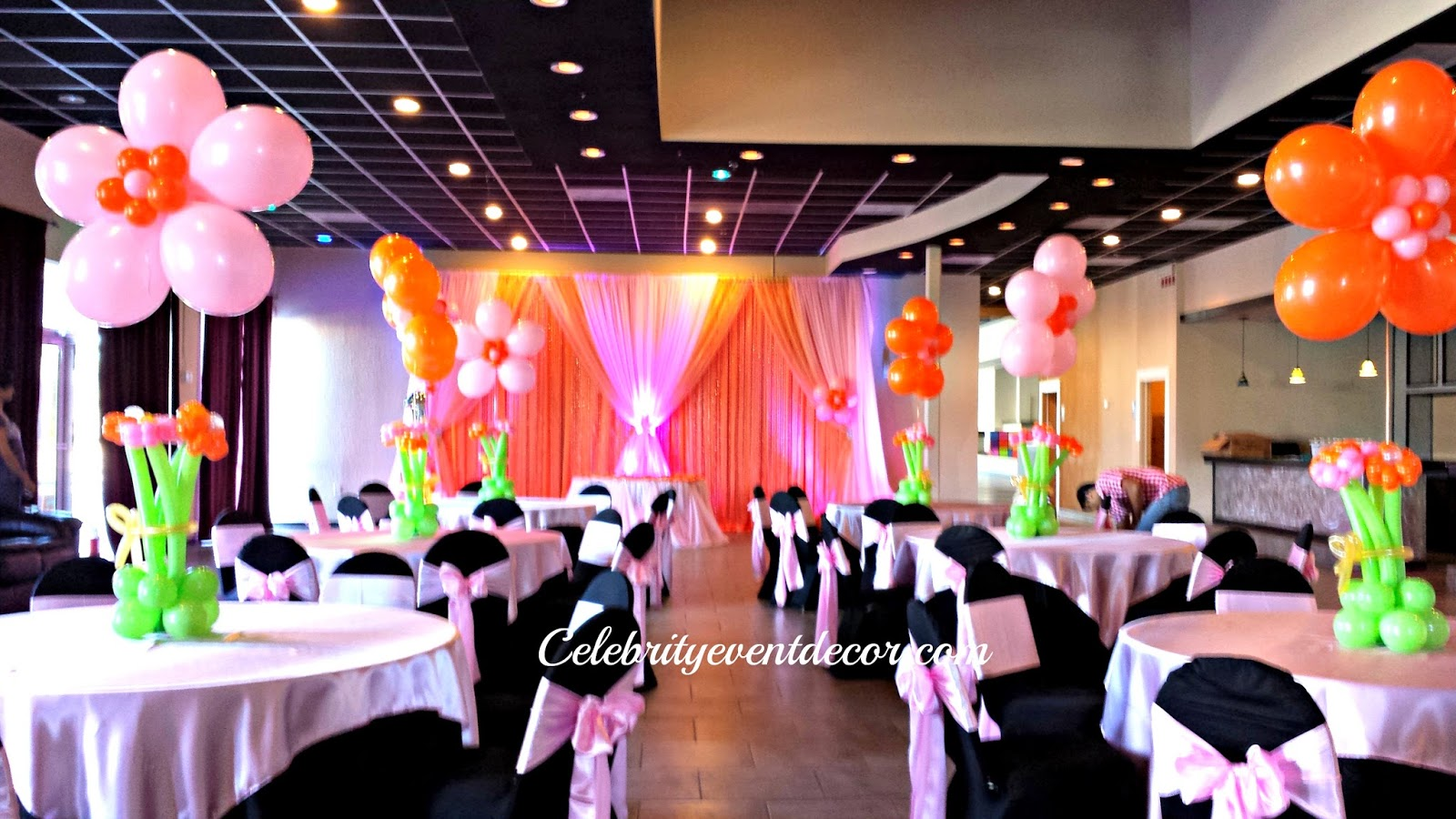 Celebrity event decor banquet hall llc for 1st birthday hall decoration