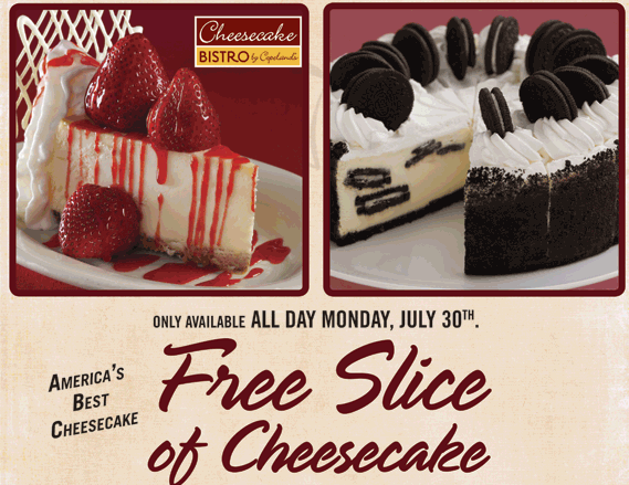 Copeland's cheesecake bistro coupons printable