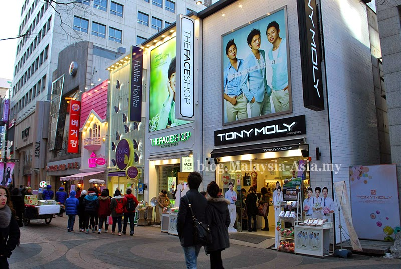 Cosmetics in Myeongdong
