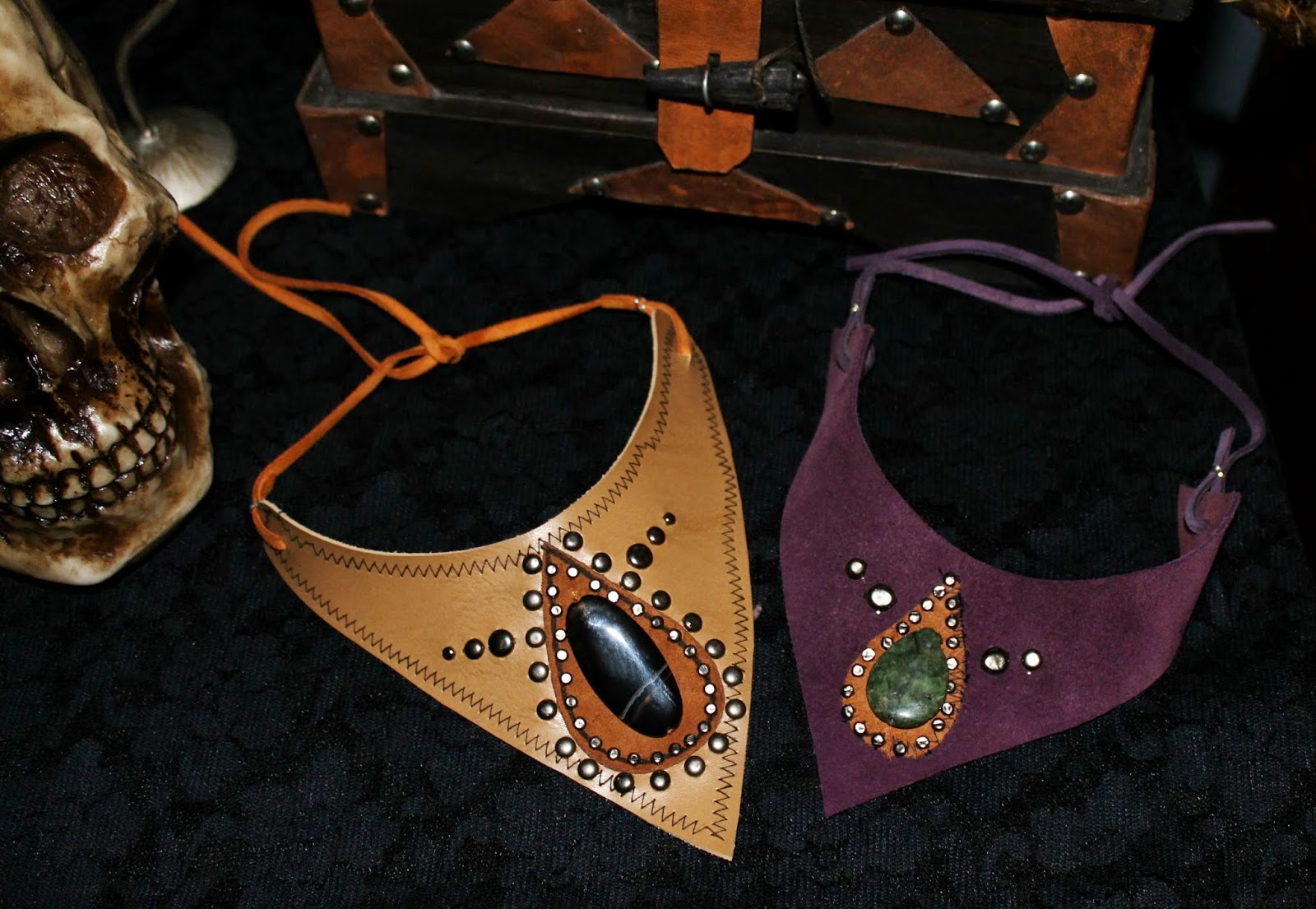 Artesanato Em Mdf Kit Higiene Para Bebe ~ Santta Tend u00eancia DIY Colar Artesanal Com Pedras