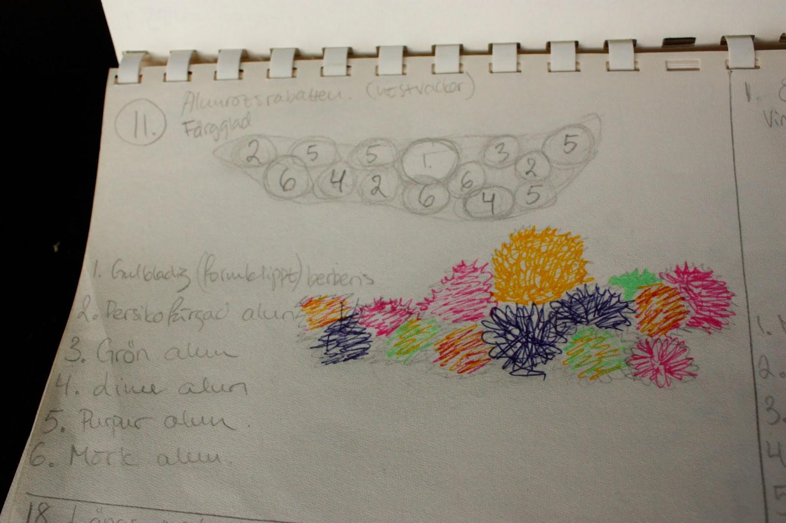 Josefins trädgård: planering trädgårdskarta