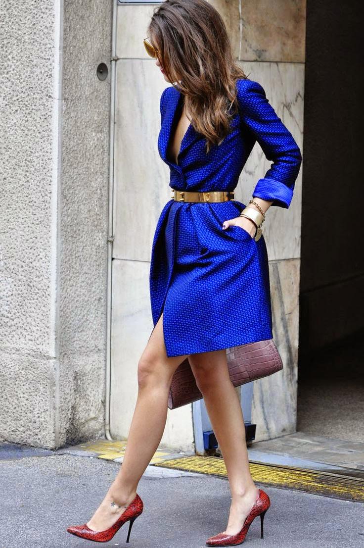 blue-dress-coat-brown-slim-waist-belt-outfit-fashion