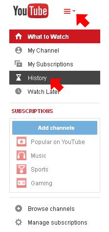 youtube history