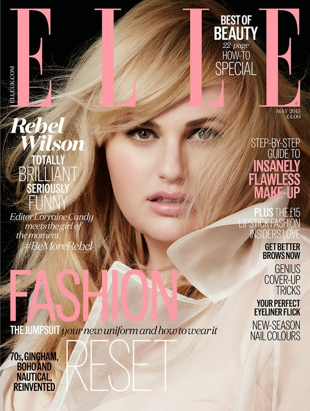 Actress @ Rebel Wilson by Doug Inglish for  Elle UK, May 2015