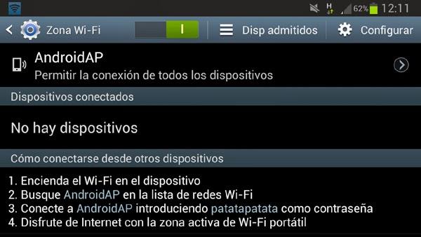 Compartir la conexión a Internet desde Android por WiFi