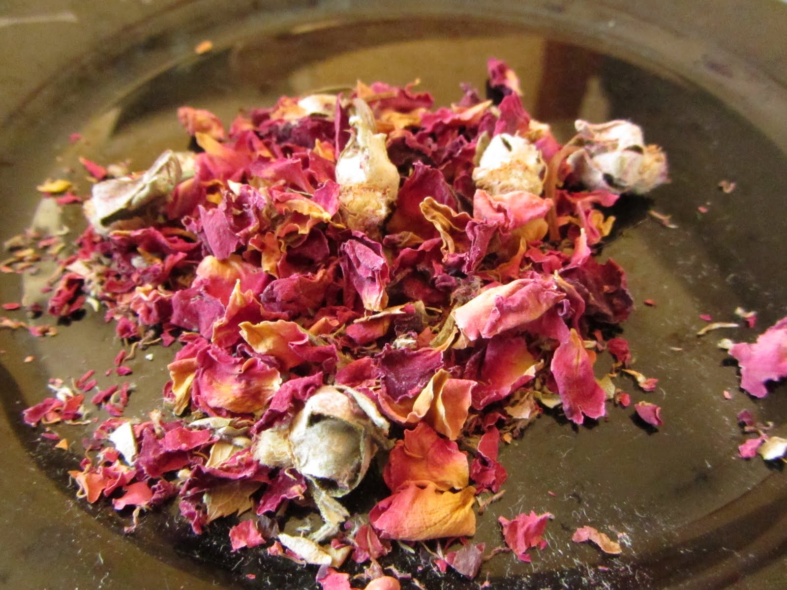 "Today's ""spice"" is: Dried Rose Petals"