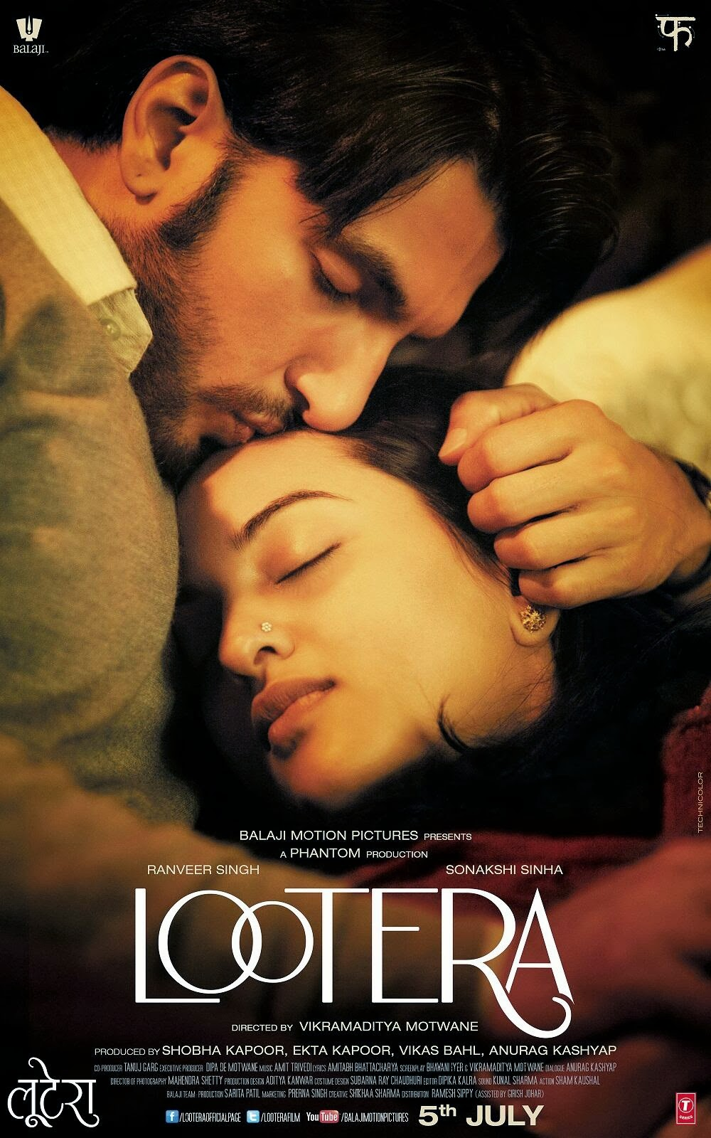 Watch Lootera (2013) Hindi Full Movie DVDRip Watch Online For Free Download