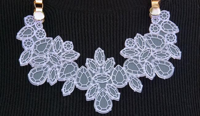 kanokkorn lamlert, necklace, perspex diamonds