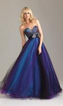Blue and Purple Wedding Dresses