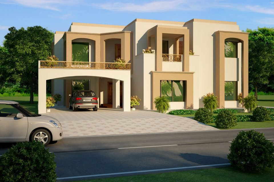 3d front elevation november 2012 house home contemporary for Pakistan modern home designs
