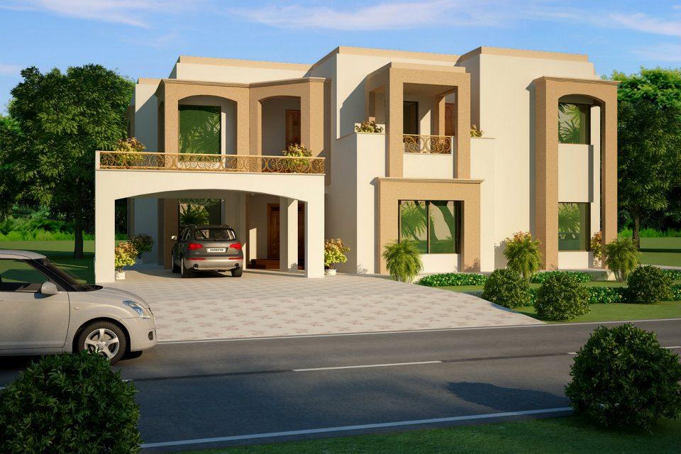 Beautiful House Design 3D View 2 kanal Bongla