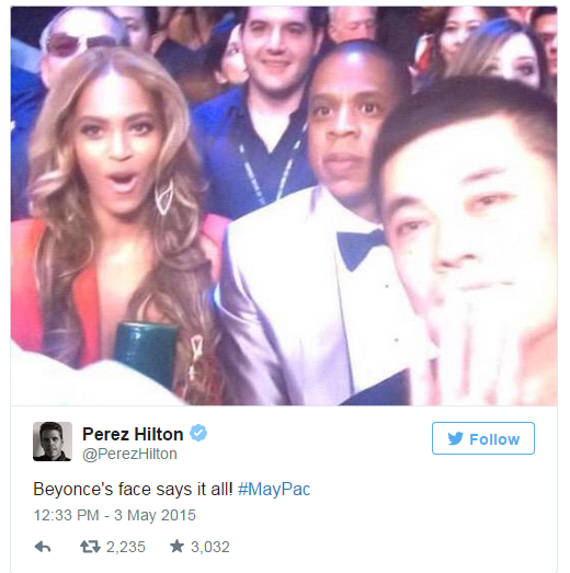 beyonce bets for pacman