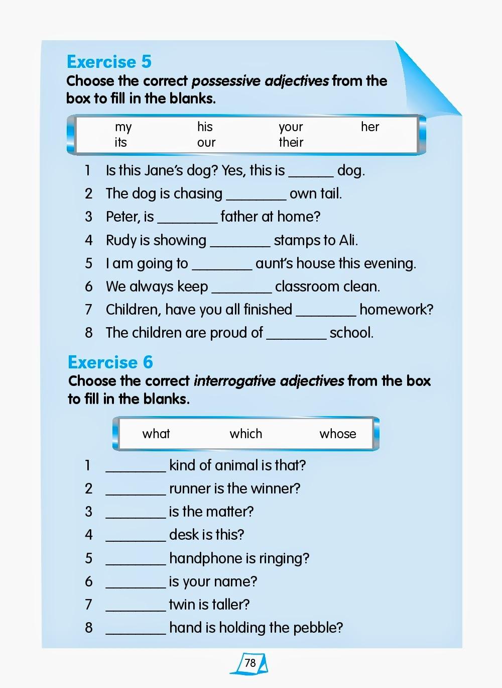 possessive adjectives amp pronouns 1 kids activities