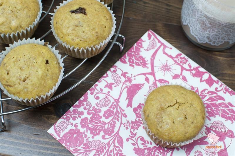 muffins de calabaza y nueces
