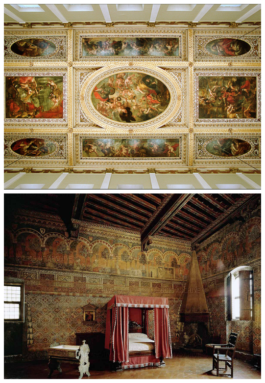 A Renaissance Interior Could Be Characterized With High Contrast In Color  And Surface Articulation. Most Walls Were Plaster, Painted Or Featuring  Frescoes.