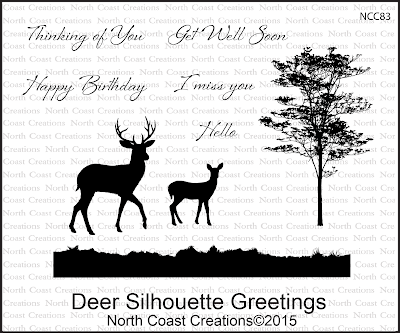 North Coast Creations Deer Silhouette Greetings