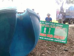 nắp trên của biogas nhựa compozite