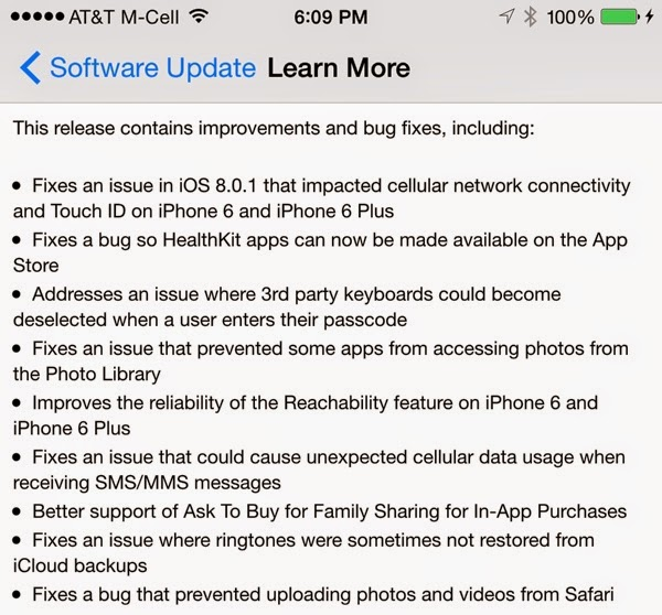 Apple Releases iOS 8.0.2 With Fix for Cellular Issues, Broken Touch ID