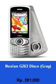 Daftar HP Murah Nexian G263 Disco (Gray) - wedhanguwuh.com