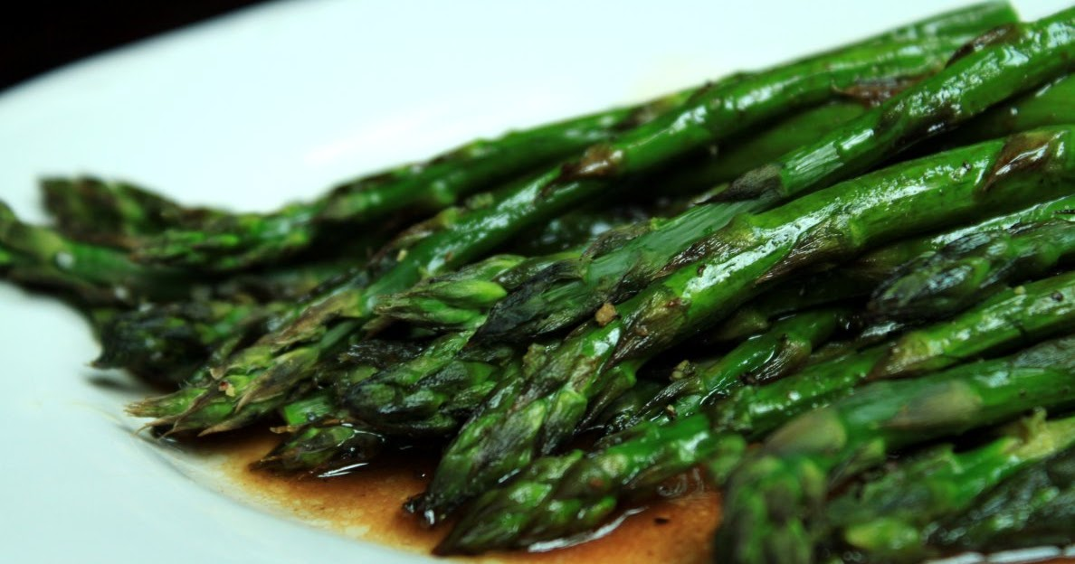 ... and A Pinch: Roasted Asparagus with Balsamic Browned Butter Sauce