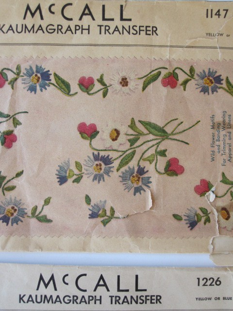 Embroidery transfer vintage designs
