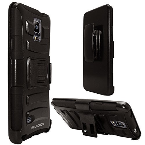 BUDDIBOX ArmoCase Black Samsung Galaxy Note 4 Case