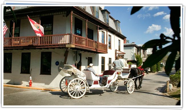 Best Historic City Contest: St. Augustine Makes the Top 10 - Placing 6th 1 carriage ride through st augustine St. Francis Inn St. Augustine Bed and Breakfast