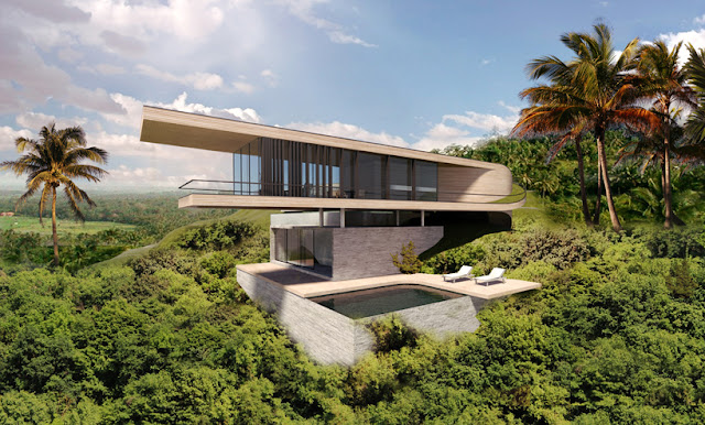this impressive modern contemporary house called Bali Hill House