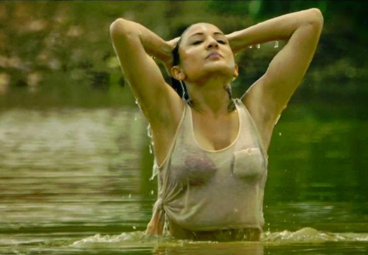 Anushka Sharma Looking Hot in Transparent Top Wallpaper