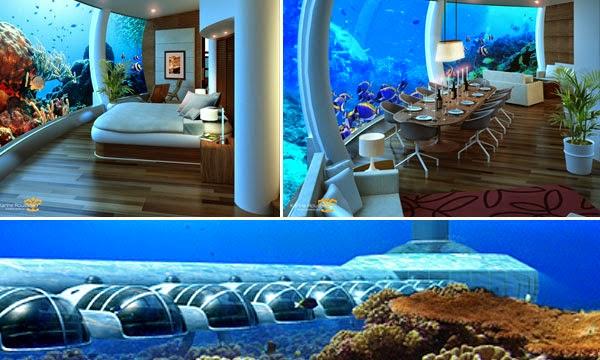 El mundo en hoteles innovando bajo el mar for Hoteles mas lujosos del mundo bajo el mar