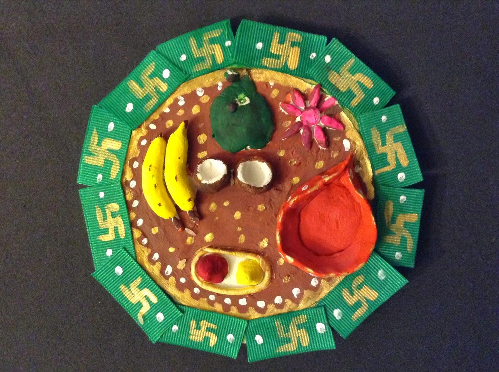 Kriya tive kaleidoscope thamboolam plate for Arathi thattu decoration