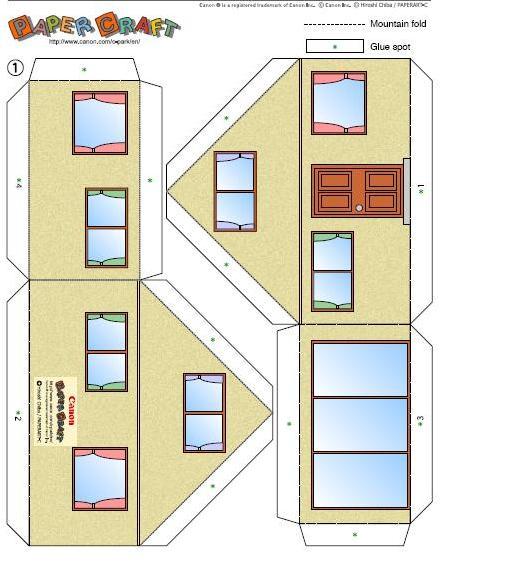 Casa recortables para maquetas - Imagui