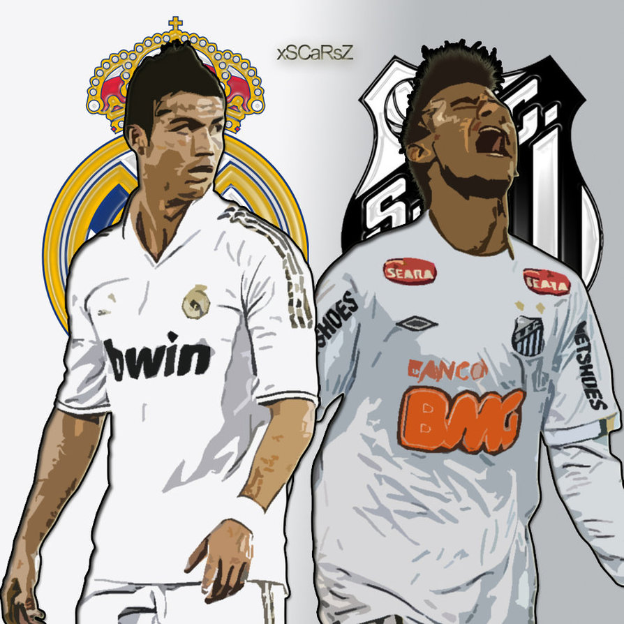 Cristiano Ronaldo Vs Neymar 2012 Wallpaper