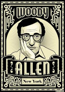 Grabado de Woody Allen, el cómico cinematográfico por excelencia