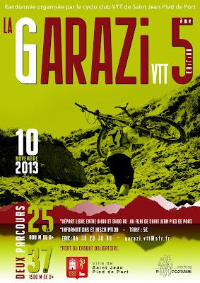 La GARAZI VTT 2013 à Saint Jean Pied de Port