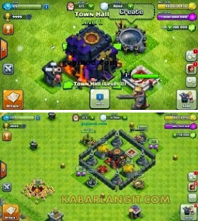 Clash of Clans v7.1.1 Mod Unlimited Gems Gold dan Elixir