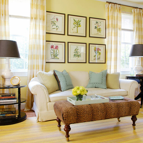 Living Room Ideas with Yellow Walls