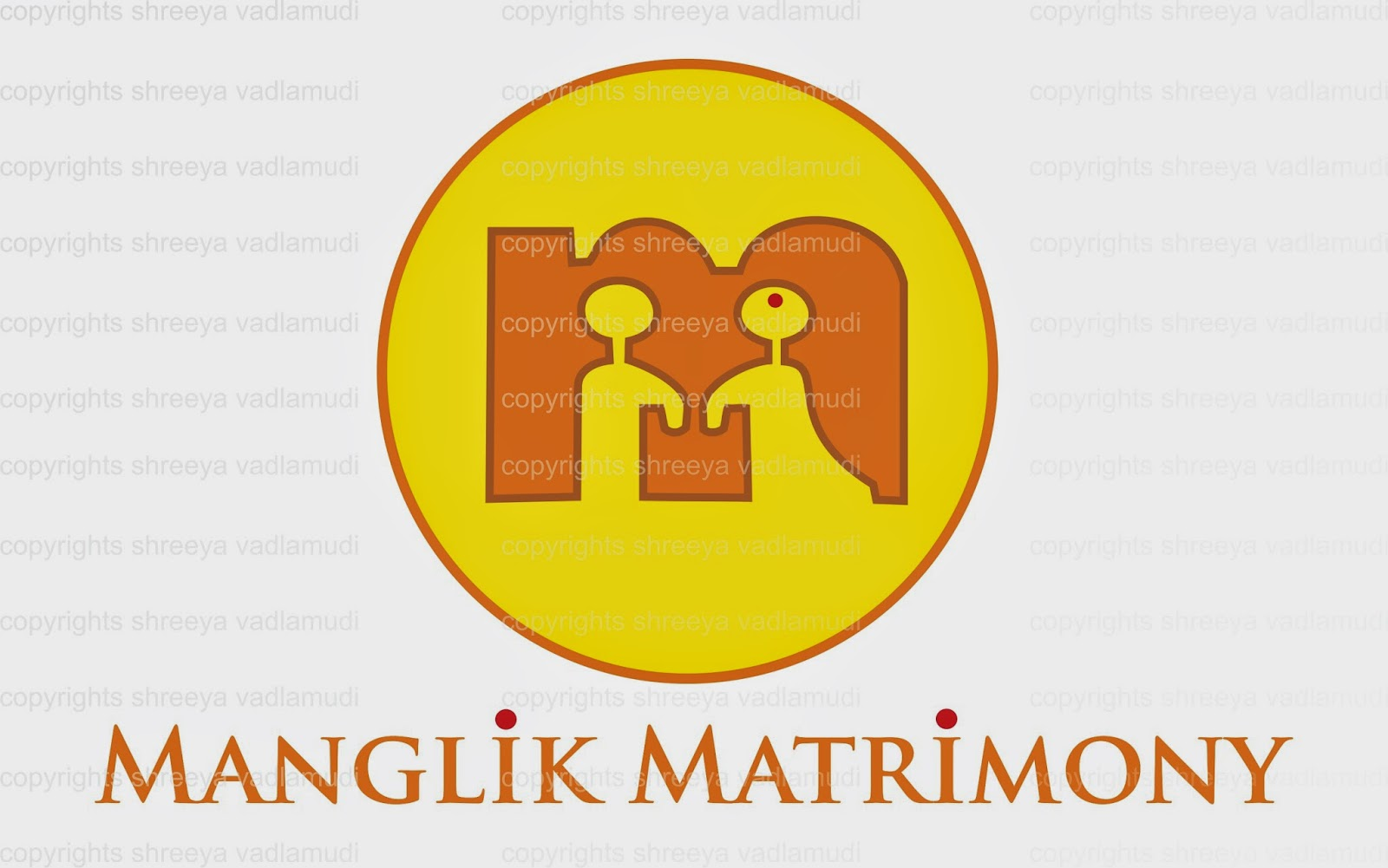 Traditional Marriage Bureau  Matrimony Logo Design
