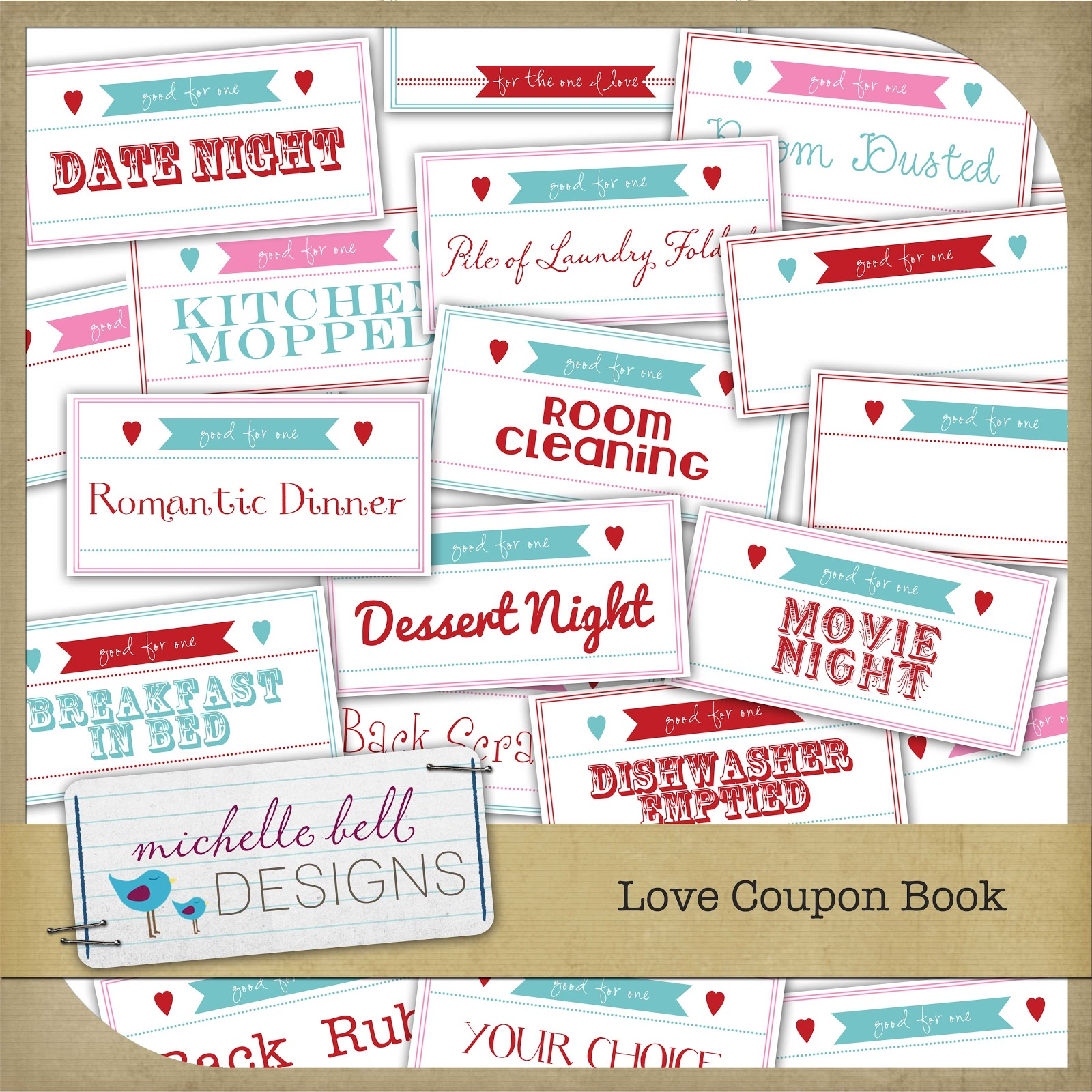 Make the best of your nest valentine coupon book free for Coupon book template for husband
