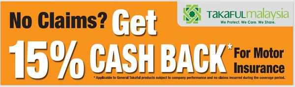 15% cashback takaful malaysia