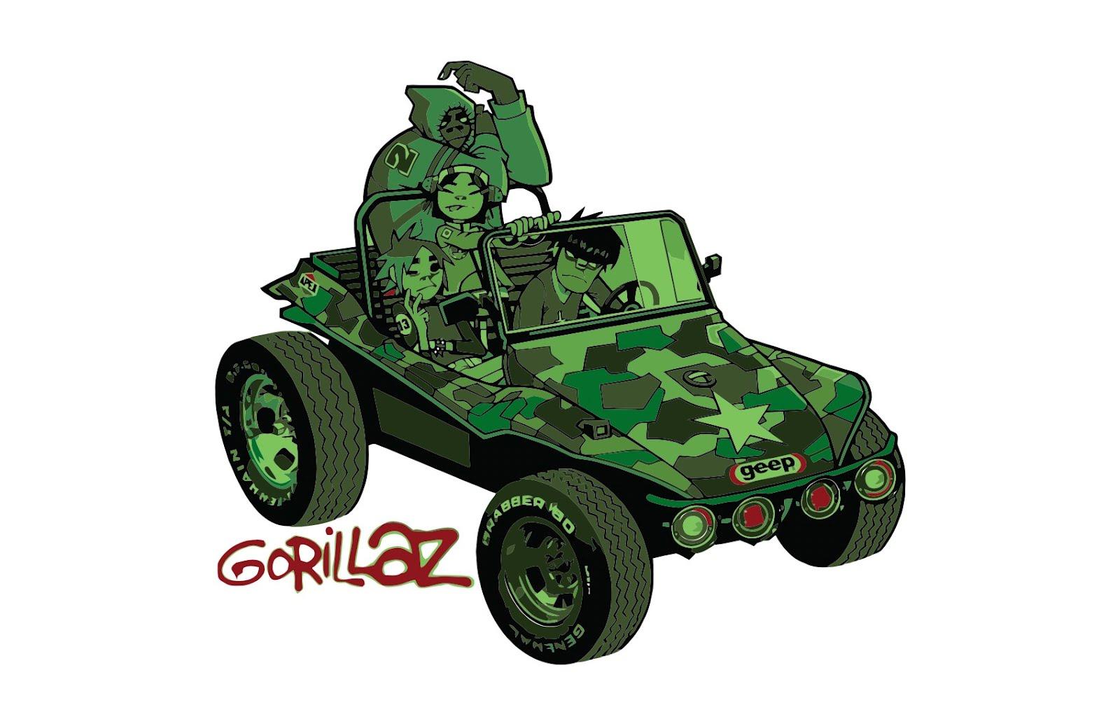 Gorillaz Buggy Geep Vector T Shirts