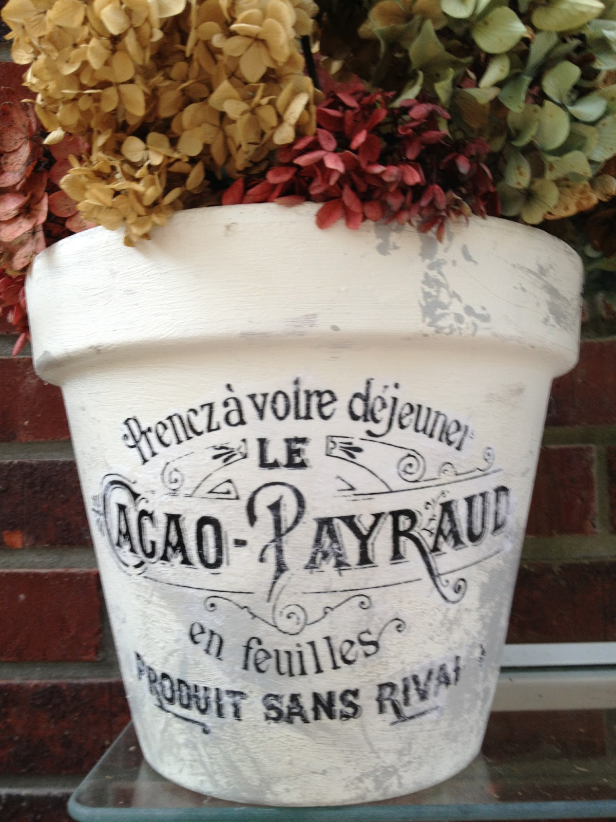 This pot is my best effort so far. & Halcyon Days: DIY French Flower Pots